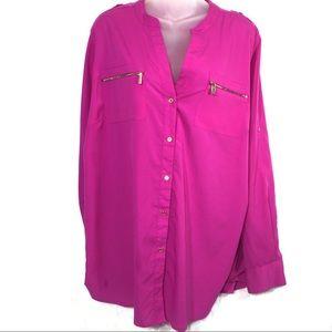 Calvin Klein lightweight top blouse shirt 1x EUC